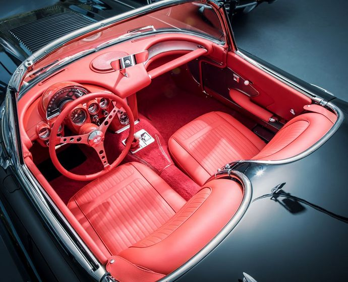 1958er Corvette C1 Interieur