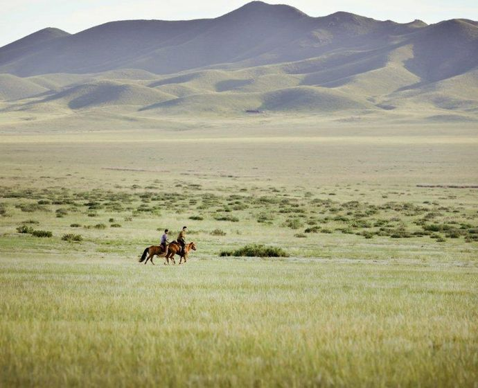 Steppe in der Mongolei