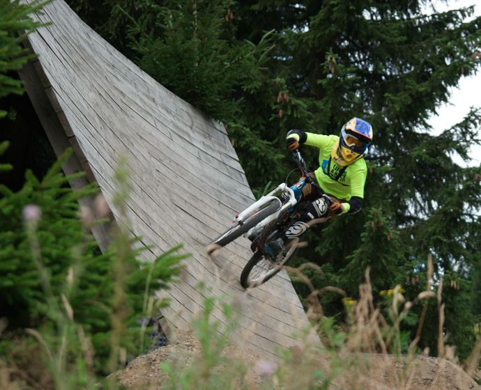 Thorid Zierold beim Mountainbiking